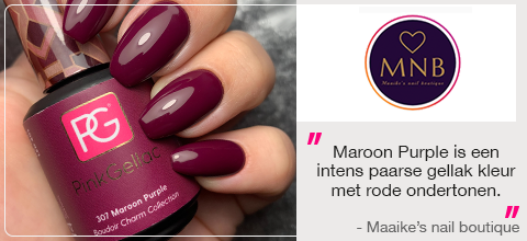 Pink Gellac Nagellak Maroon Purple Review