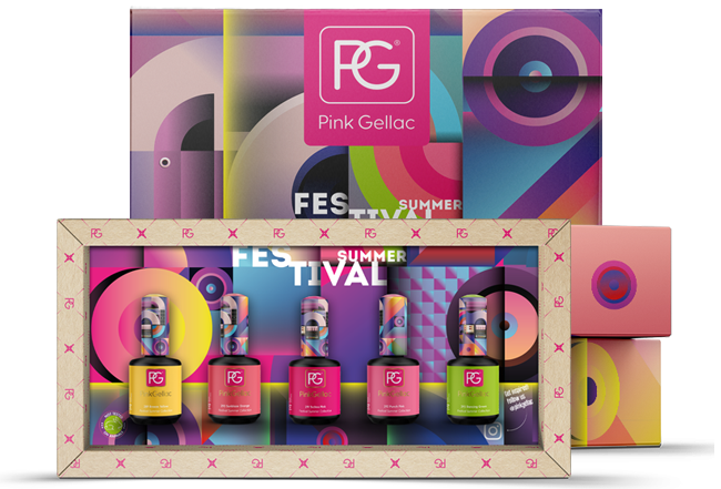 Pink Gellac Color Box Festival Summer