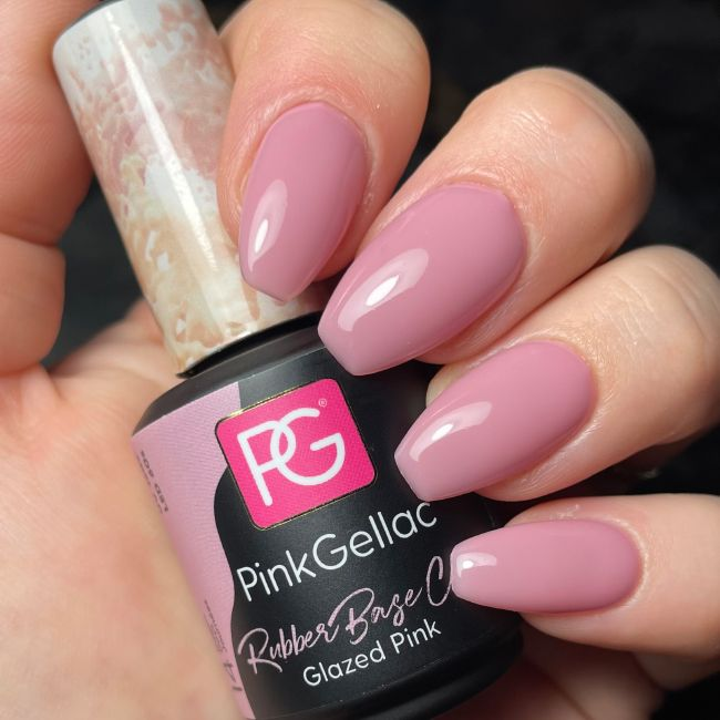 Pink Gellac Rubber Base Cover Glazed Pink
