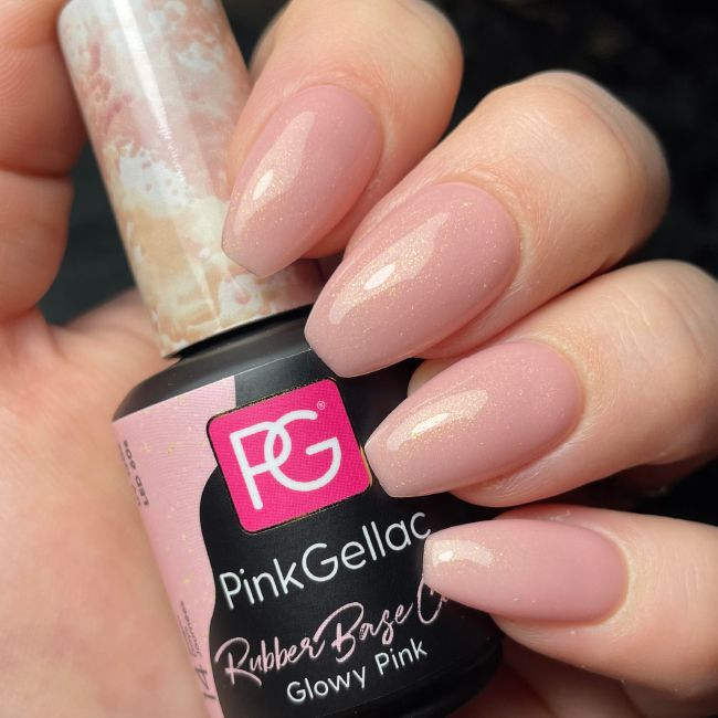 Pink Gellac Rubber Base Cover Glowy Pink