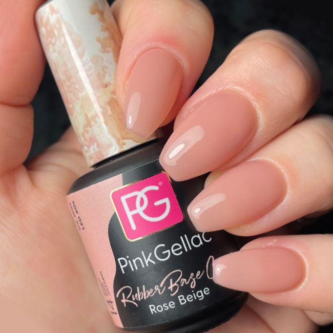 Pink Gellac Rubber Base Cover Rose Beige