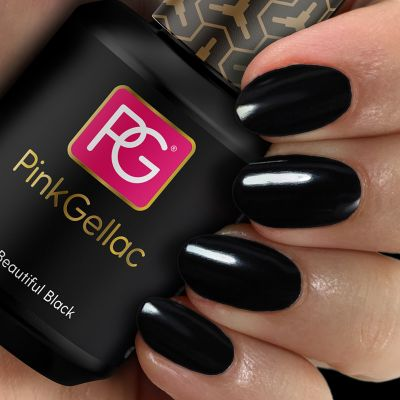 Pink Gellac Gel Nagellak Kleur 120 Beautiful Black