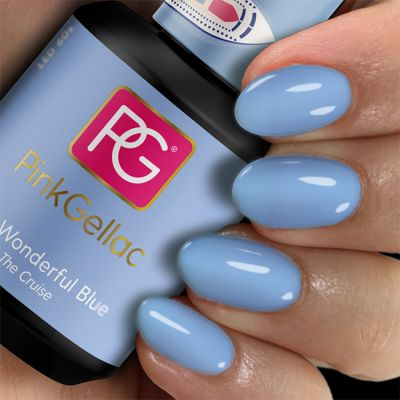 Pink Gellac Gel Nagellak Kleur 217 Wonderful Blue