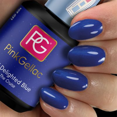 Pink Gellac Gel Nagellak Kleur 221 Delighted Blue