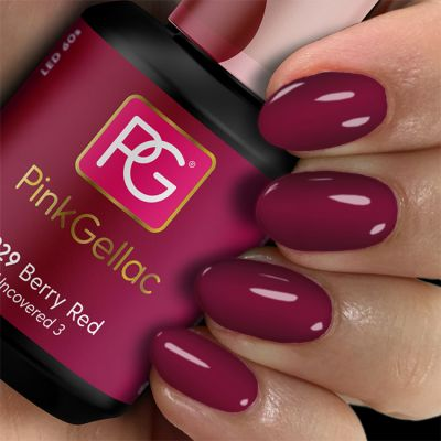 Pink Gellac Gel Nagellak Kleur 229 Berry Red