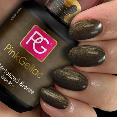 Pink Gellac Gel Nagellak Kleur 234 Metalized Bronze