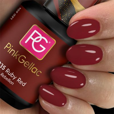 Pink Gellac Gel Nagellak Kleur 235 Ruby Red
