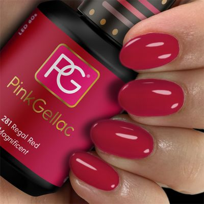 Pink Gellac Gel Nagellak Kleur 281 Regal Red