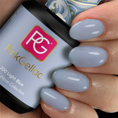 Pink Gellac Gel Nagellak Kleur 300 Light Blue