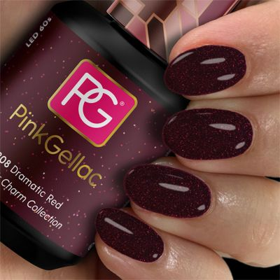Pink Gellac Gel Nagellak Kleur 308 Dramatic Red