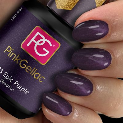 Pink Gellac Gel Nagellak Kleur 313 Epic Purple