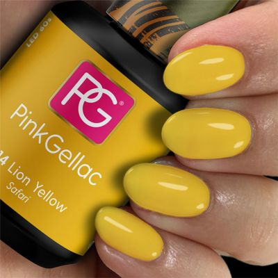 Pink Gellac Gel Nagellak Kleur 314 Lion Yellow