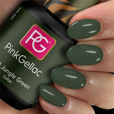 Pink Gellac Gel Nagellak Kleur 316 Jungle Green