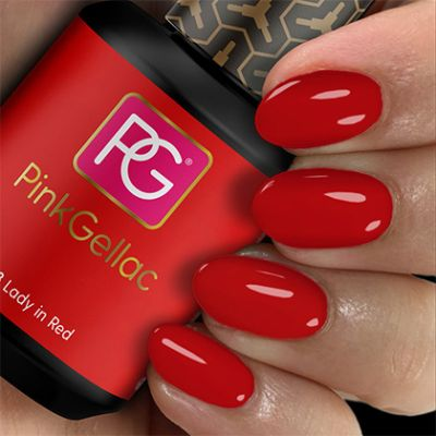 Pink Gellac Gel Nagellak Kleur 108 Lady in Red