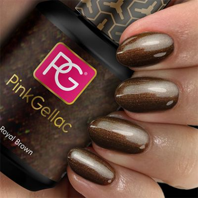 Pink Gellac Gel Nagellak Kleur 114 Royal Brown