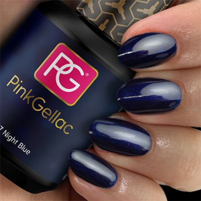 Pink Gellac Gel Nagellak Kleur 117 Night Blue