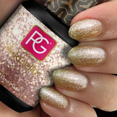 Pink Gellac Gel Nagellak Kleur 130 Luxury Gold