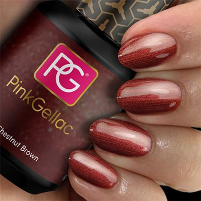 Pink Gellac Gel Nagellak Kleur 150 Chestnut Brown