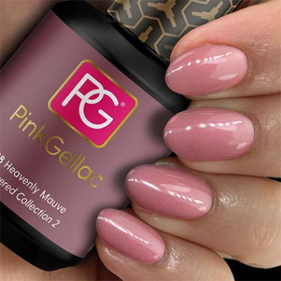 Pink Gellac Gel Nagellak Kleur 198 Heavenly Mauve