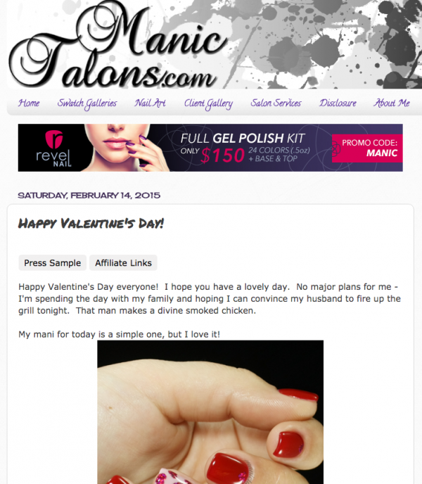 Pink Gellac Review by Manic Talons | Valentijn Nail Art