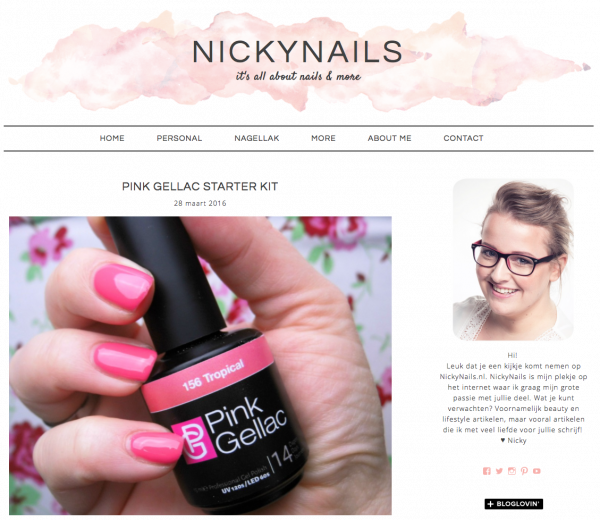 Pink Gellac review by NickyNails | LED starterset