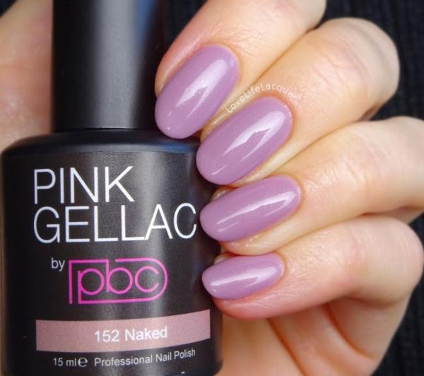 Pink Gellac review by Love Life Lacquer| 152 Naked