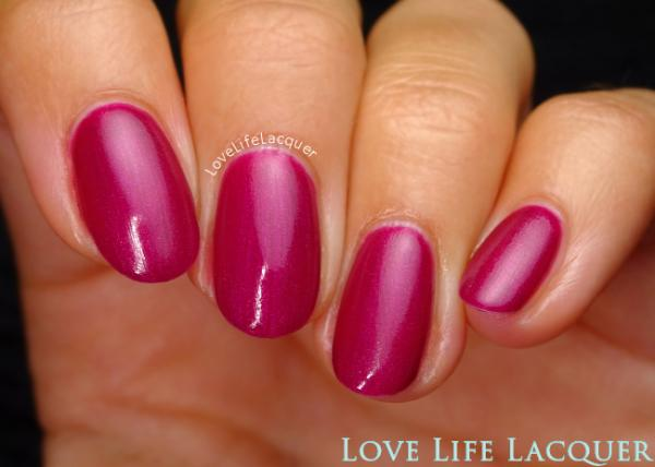 Pink Gellac review by Love Life Lacquer  Majestic Collectie