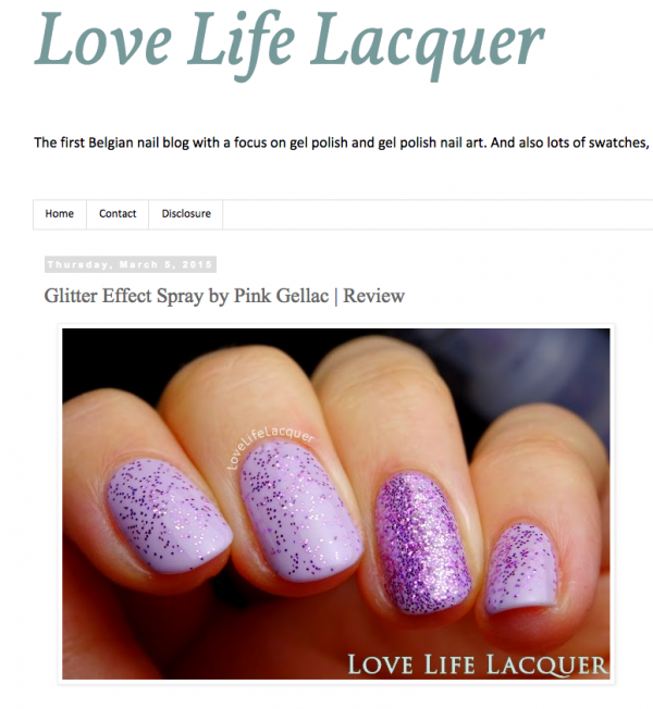 Pink Gellac Review by Love, Life, Lacquer | Glitters