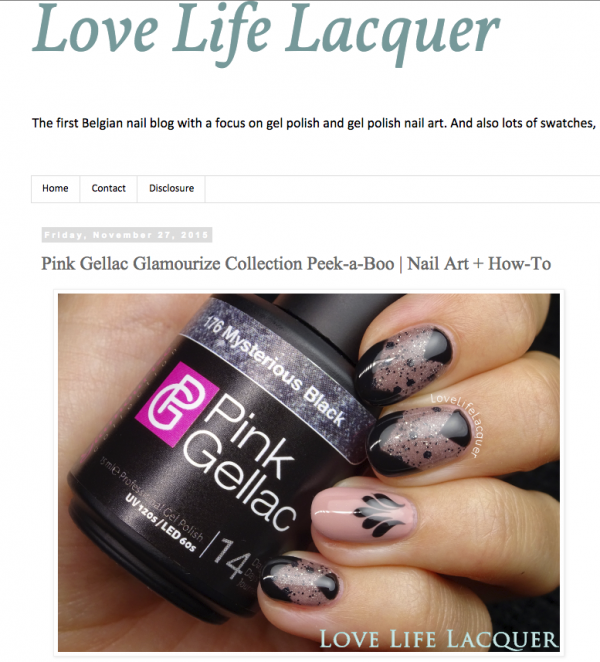 Pink Gellac Review by Love, Life, Lacquer | 'Peek-a-Boo'