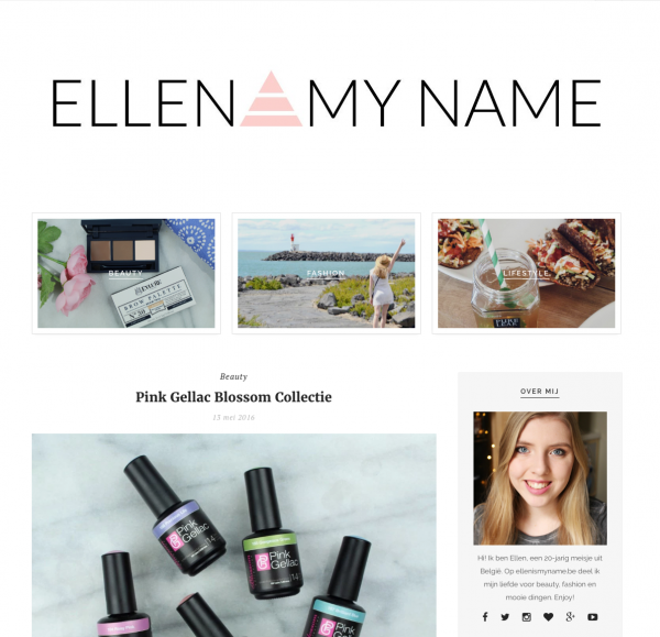 Pink Gellac Review by Ellen Is My Name   Blossom