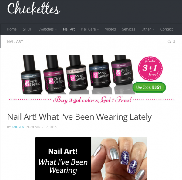 Pink Gellac Review by Chickettes | Nail art