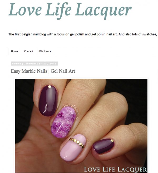 Marmeren nail art by Love, Life, Lacquer
