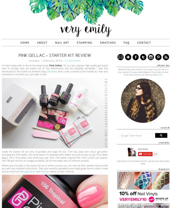Pink Gellac Review by Very Emily   LED Starter set