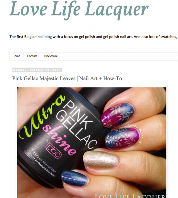Pink Gellac Review by Love, Life, Lacquer | Herfst nail art
