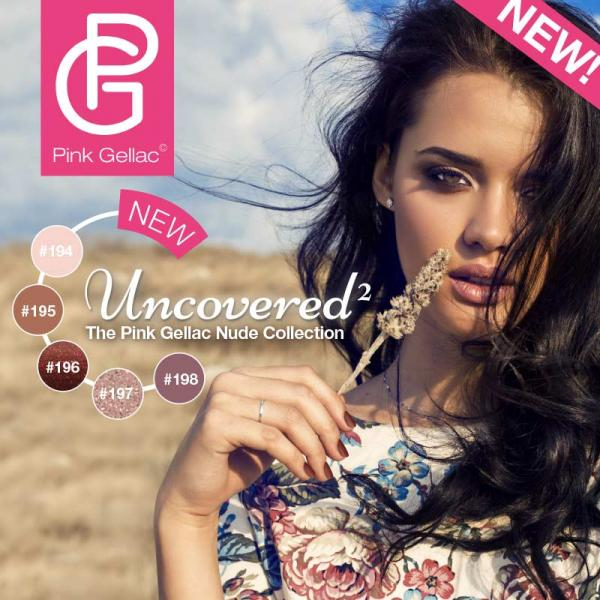 Pink Gellac Uncovered2 Collectie, 5 nude tinten
