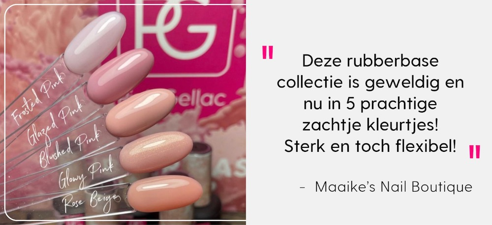 Pink Gellac Review Maaike's Nail Rubber Base Cover