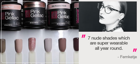 7 nude shades which are super wearable all year round.