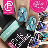 Pink Gellac Gel Nagellak Nail Art Blue Monday