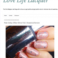 Pink Gellac Review by Love, Life, Lacquer | Foil Effect