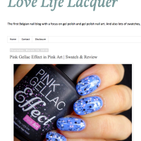 Pink Gellac Review by Love, Life, Lacquer | Glitter art