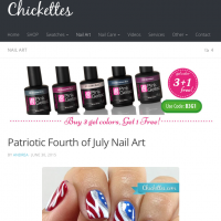 Pink Gellac Review by Chickettes   Vlag nail art