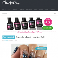 Review by Chickettes | Geometrische nail art