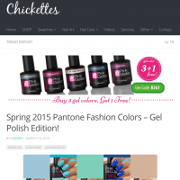 Review by Chickettes | Blauwe gel nagellak
