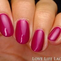 Pink Gellac review by Love Life Lacquer| Majestic Collectie