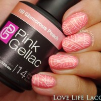 Pink Gellac review by Love Life Lacquer| Festival Nail Art
