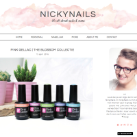 Pink Gellac Review by NickyNails | Blossom Collection