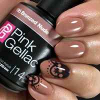 Pink Gellac Classy Lace Nail Art