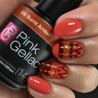 Aztec Orange Nail Art