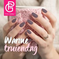3D sweater nail art met de Pink Gellac Base Plus