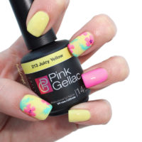 Tropische Bloemen Nail Art met 213 Juicy Yellow